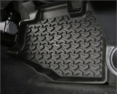 All Terrain Black Rear Floor Liners for Jeep Wrangler TJ (1997-2006) and LJ (2004-2006)