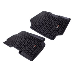 Floor Liners, Front, Jeep CJ (1976-1986), YJ (1987-1995), Black