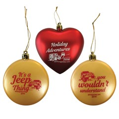 All Things Jeep 2016 Holiday Ornaments Set of Three