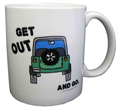 "All Things Jeep ""Get Out  and Go"" Coffee Mug"