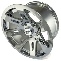"Polished Chrome 17x9"" Aluminum Wheel for Jeep Wrangler JK (2007-2014)"