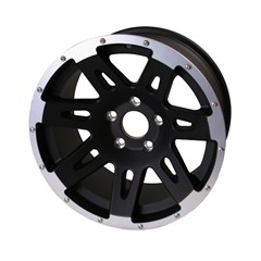 "Black 17x9"" Aluminum Wheel for Jeep Wrangler JK (2007-2014)"
