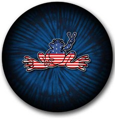 American Flag Peace Frog Tire Cover