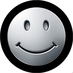 Smiley Silver Design - 6 Inch Fog Light Covers (Pair)