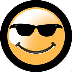 Smiley Sunglasses Design - 6 Inch Fog Light Covers (Pair)
