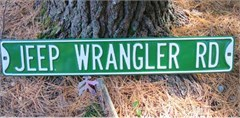 """Jeep Wrangler Rd"" Street Sign"