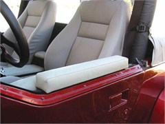 Arm Rest Half Doors, Top Mount Black Denim, Jeep Wrangler 87-06