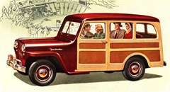 Jeep Poster/Print 1948 Willys Overland Jeep Wagon Artwork