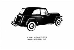 Jeep Poster/Print of a 1949 Willys Overland Jeepster VJ2-3/VJ3-6