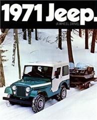 Jeep Poster/Print 1971 AMC Jeep CJ5 w/Snowmobiles Ad