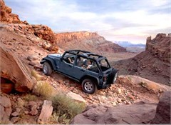 Jeep Poster/Print 2007 Jeep JK Wrangler Unlimited Rubicon (Off Road Climb)