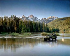 Jeep Poster/Print 2007 Jeep Wrangler Unlimited Rubicon JK (Lake)