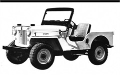 Jeep Magnets, 1953 Jeep CJ-3B