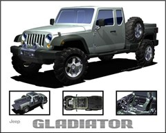 Jeep Magnets, Jeep Gladiator Concept JK