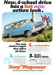 Jeep Magnets, 1965 Kaiser Jeep Wagoneer Ad