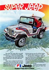 Jeep Magnets, 1973 Super Jeep CJ5 Ad