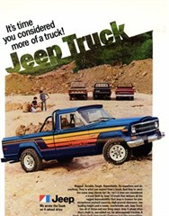 Jeep Magnets, 1980 AMC Jeep Honcho Ad