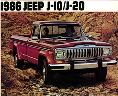 Jeep Magnets, 1986 Jeep J-10/J-20 Advertisement