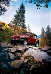 Jeep Magnets, 2007 Jeep Wrangler JK 4 Dr (Autumn Mountains)