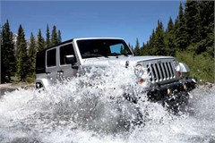 Jeep Magnets, 2007 Jeep JK Wrangler 4 Dr (Splashing)