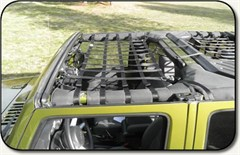 Jeep Front Overhead Net for 2 or 4 Door 2007-2012 Jeep Wrangler JK