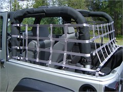 Jeep Cargo / 1 Piece Wrap-Around Nets for 2 Door 2007-2014 Jeep Wrangler