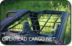 Jeep Overhead Cargo Net for  Jeep Wranglers 1992-2006