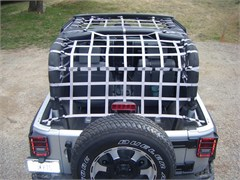 Jeep Rear Overhead Net for 2 Door Jeep Wranglers 2007-2014
