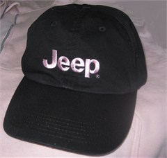 Women's Jeep Hat, Pink Logo on Black Hat