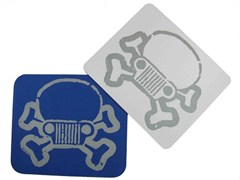 Mousepad Jeep Skull & Crossbones