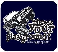 Mousepad - Where's Your Playground? Comanche, Blue