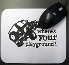 Mousepad - Where's Your Playground? Wrangler