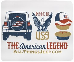 """The American Legend"" Mousepad by All Things Jeep"