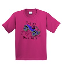 Kids T-Shirt: Future Rock Star on Pink Tee