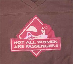"Jeep Girl Football Jersey (Chocolate/Pink): ""Not All Women are Passengers"""