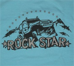 """Rock Star"" Off-Road Shirt  for Women (Blue)"