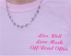 Ladies Long Sleeve Pink Jeepin' / Off-Road Tee Shirt
