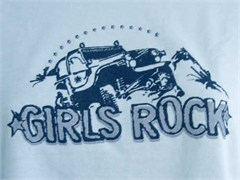 """Girls Rock"" Long Sleeve Tee Shirt for Women"