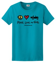 Peace, Love & 4x4s Women's Colorful Tee
