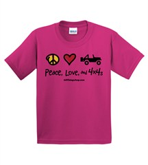 """Peace, Love & 4x4s"" Youth Tee"