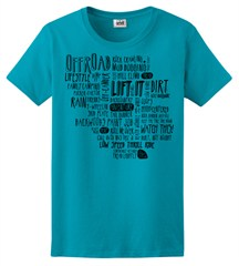 Off-Road Adventure WORDS T-Shirt, Women's