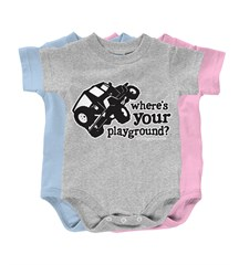 """Where's Your Playground?"" Wrangler Infant Creeper"
