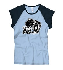Where's Your Playground? 4 door JK Women's Cap Sleeve Tee