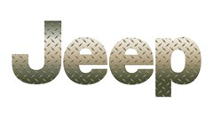 Jeep Logo Decal - Diamond Plate Metal (1 decal)
