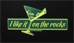 """I like it on the rocks"" Decal"