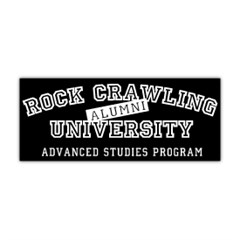 """Rock Crawling University"" Window Decal"