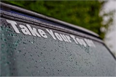 """Take Your Top Off"" Jeep decal (large/white)"