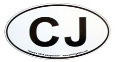 "CJ Oval ""Euro"" Sticker for your Jeep CJ"