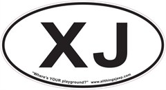 "XJ Oval ""Euro"" Sticker for your Jeep XJ"