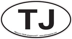 "TJ Oval ""Euro"" Sticker for your Jeep TJ"